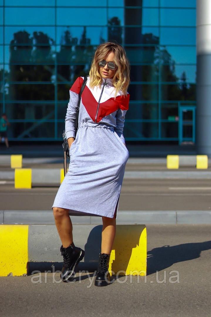 Женское спортивное платье с затяжкой на талии
