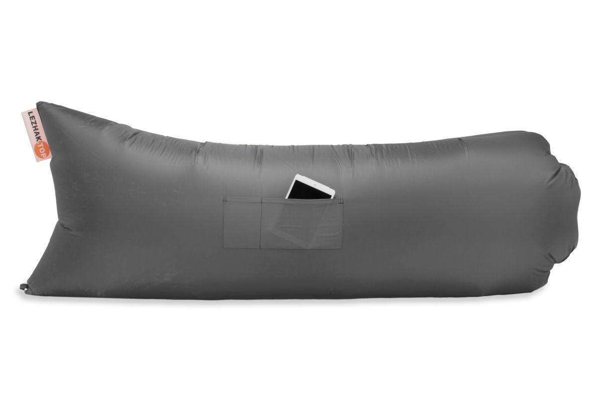 Надувной лежак Ламзак  Серый