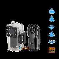 Мини камера S80 с защитным аквабоксом, углом обзора 120°, ночной подсветкой и мощным аккумулятором