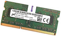 Оперативная память для ноутбука Micron DDR3L 4Gb 1600MHz PC3L-12800S CL11 (MT8KTF51264HZ-1G6N1) Б/У