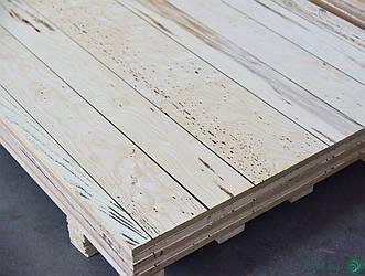 Ексклюзивна МДФ плита шпонована Ясеном в сучках (дошка) 19 мм 2,8х1,033 м