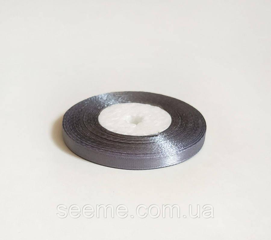 Лента атласная, 6 мм, цвет серый