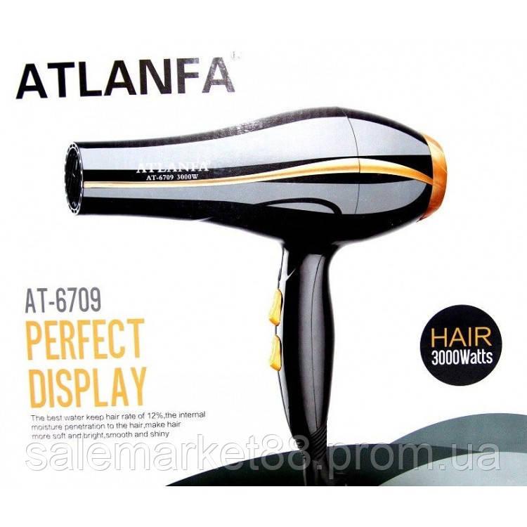 Фен для укладки волос c насадками Atlanfa  AT-6709, 3000w