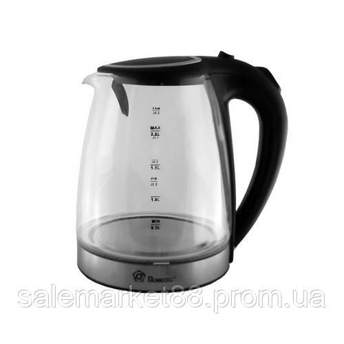 Чайник стеклянный, электрочайник  DOMATEC MS-8110