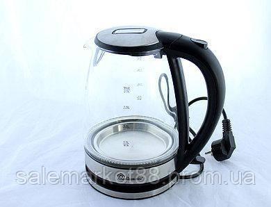 Чайник стеклянный электрический DOMATEC MS-8112, 2 л.