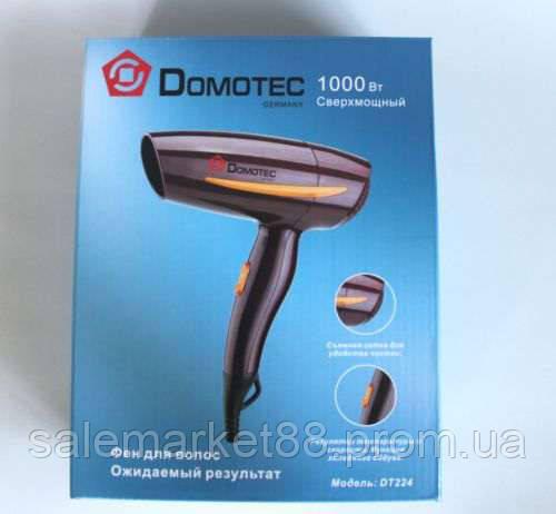 Фен для волос  DOMOTEC DT-224, 1000 Вт