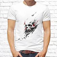 Мужская  футболка с принтом Череп Push IT