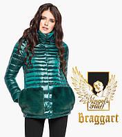 Куртка с капюшоном укороченная Angel's Fluff осень-весна изумрудного цвета