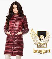 Воздуховик удлиненный демисезонный женский Braggart Angel's Fluff - 18225 карминовый