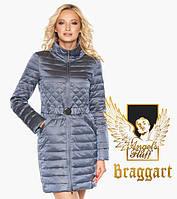 Воздуховик удлиненный демисезонный женский Braggart Angel's Fluff - 39002маренго