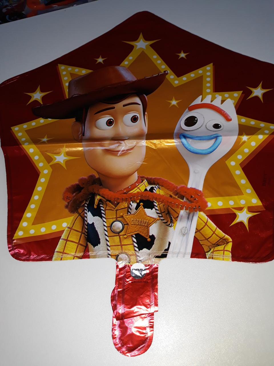 """Воздушный шар фольгированный, в форме звезды с рисунком герои мультфильма """"Истории игрушек"""""""
