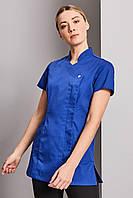 Топ женский медицинский синий на потайных кнопках Atteks - 03191
