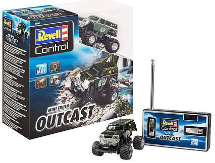 Машинка на радиоуправлении Mini RC Monster Truck Outcast Revell Control