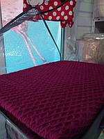 Чехол на диван и 2 кресла без юбки, СОТЫ малиновый
