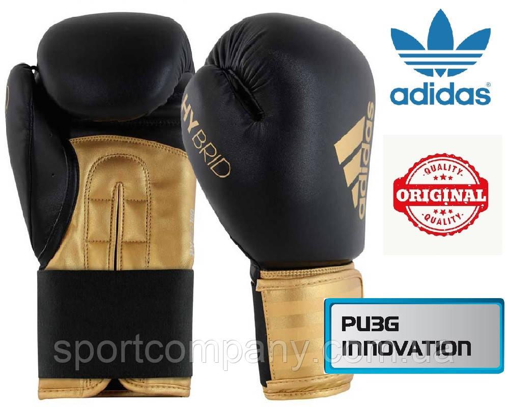 Перчатки для бокса Adidas Hybrid 100 (ADIH100, черно-золотой)