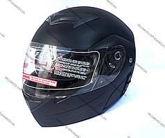 Шлем FGN черный матовый трансформер Night Rider