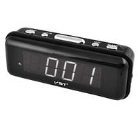 Настольные электронные часы с будильником VST 738-4 белые цифры