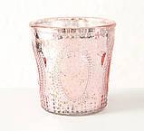 Подсвечник розовый h12см лакированное стекло 1015186, фото 2