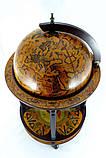 Глобус бар напольный на 4 ножки 420 мм коричневый 42003R глобус-бар высота 90 см, фото 3
