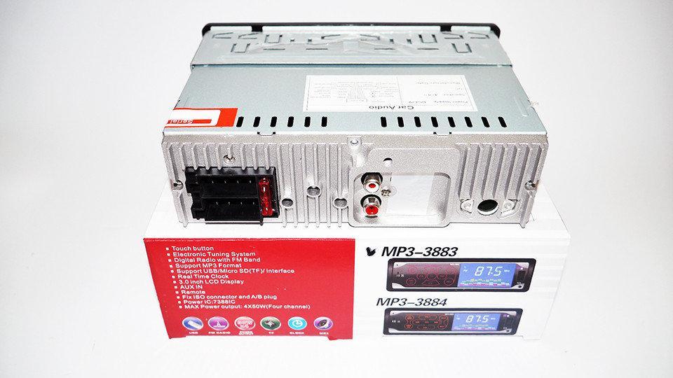 Автомагнитола Pioneer 3883 ISO - MP3 Player, FM, USB, SD, AUX сенсорная  магнитола - Bigl ua