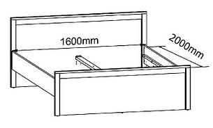 Кровать SALINS LOZ/160, фото 2