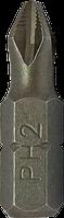Бита крестообразная PH2 с насечками 25 мм