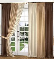 Готовый комплект штор из турецкой портьерной ткани