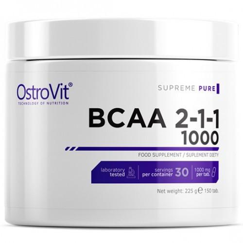 Аминокислоты BCAA OstroVit - BCAA 2:1:1 1000 (150 таблеток)