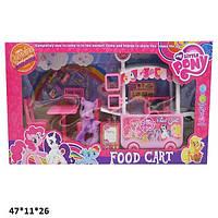 """Игрушечный набор « Кафе на колесах» DN807-PО / Набор пони """"Food cart"""" с мебелью и аксессуарами"""