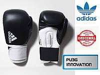 Перчатки для бокса Adidas Hybrid 100 (ADIH100, черно-белые)