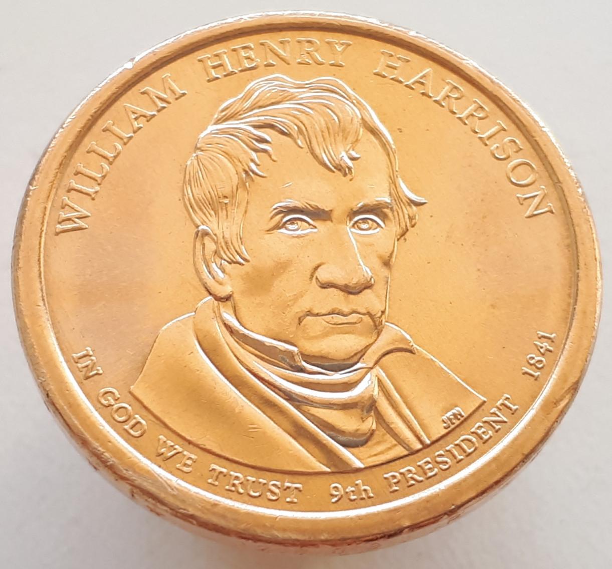 США 1 долар 2009 - Вільям Генрі Гаррісон 9 президент
