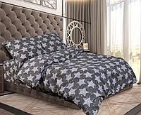 """Двуспальный комплект постельного белья """"Звёзды на сером"""""""