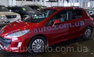 Ветровики Cobra Tuning на авто Peugeot 308 Hb 5d 2008-2014 Дефлекторы окон Кобра для Пежо 308 хэтчбек 5д 2008