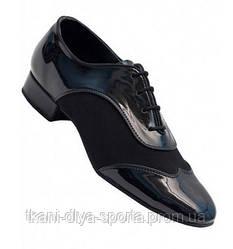 Туфли мужские Стандарт (лаковая кожа + нубук)
