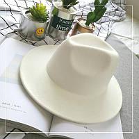 Шляпа фетровая WildJazz Федора с устойчивыми полями белая