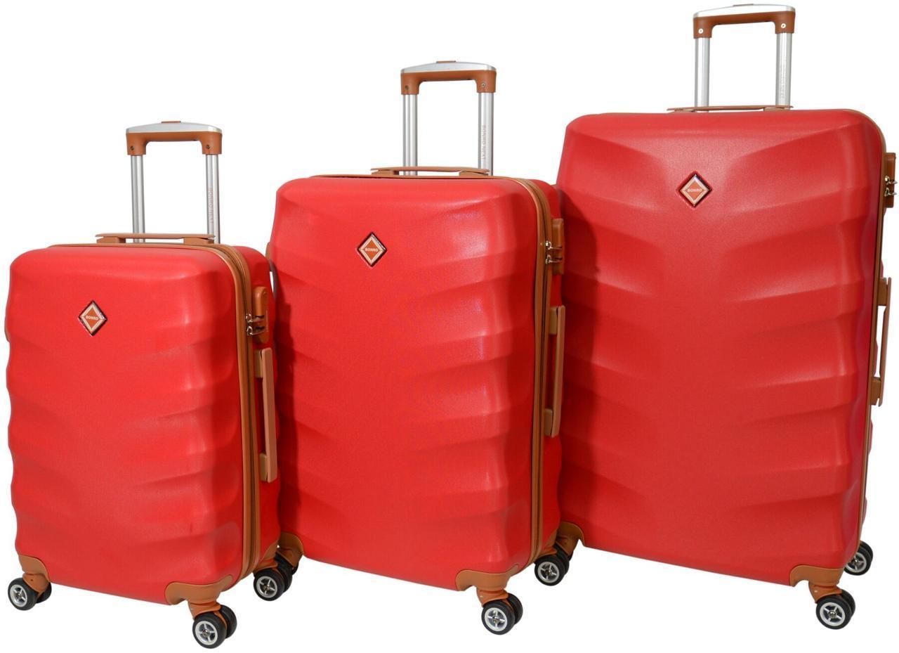 Набор чемоданов Bonro Next 3 штуки красный