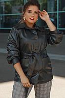 Женская куртка на осень \ весну из эко - кожи батал