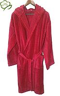 Махровый халат женский с капюшоном , 100% Хлопок Турция