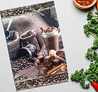 """Рушник кухонне """"Кавові зерна в мішках"""" 30 х 45 см (серветка кухонна) Бавовна, фото 1"""