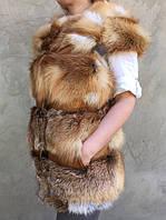 Жилет из меха рыжей лисы .