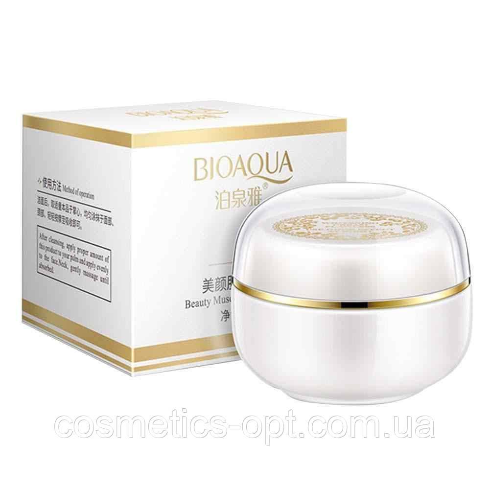 Ночной крем для выравнивания тона лица BIOAQUA Beauty Muscle Run Lady Cream с жемчужной пудрой, 30 г