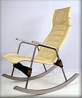 Ортопедическая кресло качалка с кожзамом