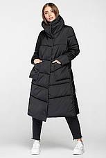 Модная удлиненная женская куртка KTL-357 черного цвета из новой коллекции KATTALEYA, фото 3