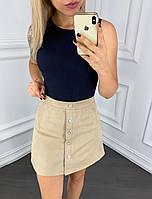 Короткая юбка трапеция 42-46 (в расцветках)