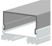 Алюминиевый профиль ЛСО+рассеиватель РСП