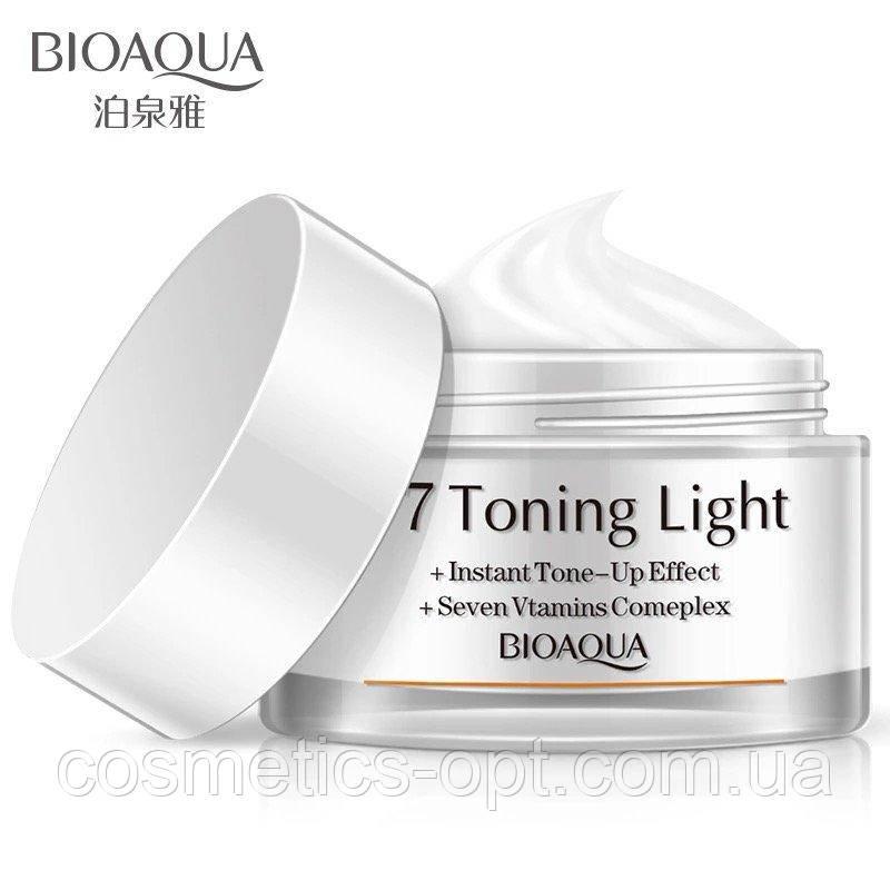Осветляющий крем для яркости кожи BIOAQUA V7 Toning Light Cream (белый), 50 г