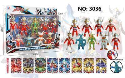 Дитяча іграшка! Набір з 9 роботів Ultramen