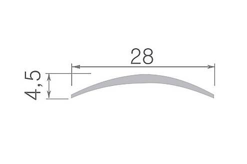 Алюминиевый профиль арт. 1179-280 03/золото 29х4,5х900 мм, фото 2