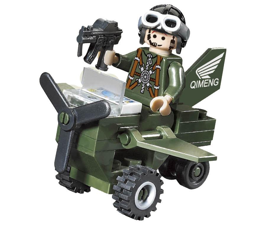Конструктор Brick Военный самолет 801