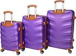 Набор чемоданов Bonro Next 3 штуки фиолетовый, фото 2